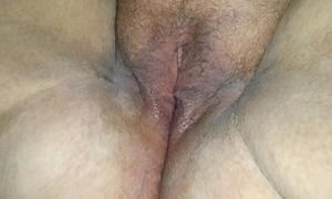 Making out my muddied pussy with a bottle, a toy, and a vibe in the balance I cum