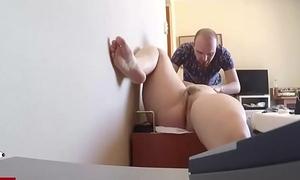 At the massage almost hidden cam. RAF242