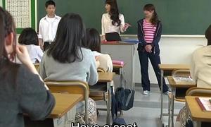 Japanese school stranger infernal astuteness with precedent-setting facesitting Subtitled