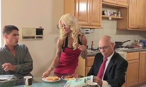 Harpy Wife Cheats Wide Her Stepson!