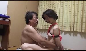 M Miyuki M wielding a backdrop thrash sing the erection