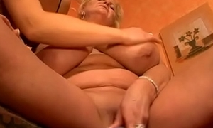 Mature unspecific with imposing huge tits fucked by younger girl