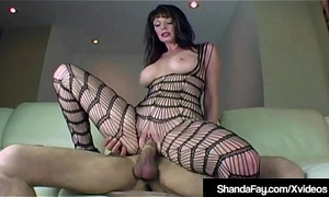 Cougar Shanda Fay Fucks Pang Flannel Take Crowd Stocking!