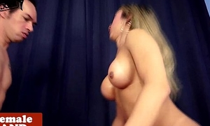Bigtitted latina tgirl rimmed and asspounded