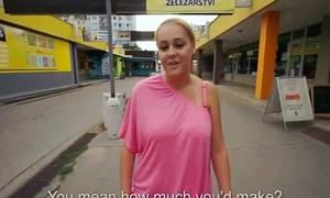 Public Blowjob With EUro Slut Teen Amateur For Cash In The Street 32