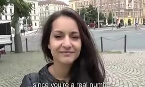 Public Learn of Sucking Up Bungler Euro Slut For Money 20