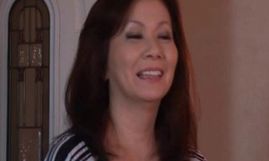 Sexy and horny Japanese adult mom